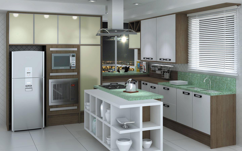 Cozinha Com Ilha Vantagens Beyato Com V Rios Desenhos Sobre